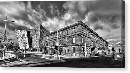 Titanic Building And Former Harland And Wolff Drawing Offices Canvas Print