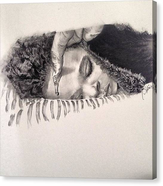 Realism Art Canvas Print - Title-anointing  Tools- #pencil by Ayemuze Artist