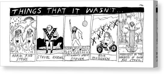 Title: Things That It Wasn't... Multi Panel Canvas Print by Edward Steed