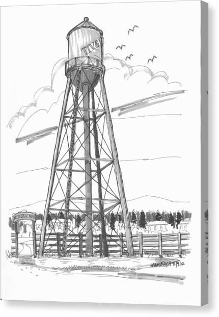 Tivoli Water Tower Canvas Print