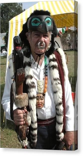 Tlinkit Northwest American Indians Canvas Print by Bill Marder