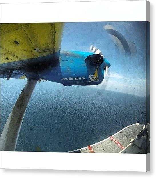 Seaplanes Canvas Print - #tma #transmaldivianairtaxi #maldives by Shamoon Sabig