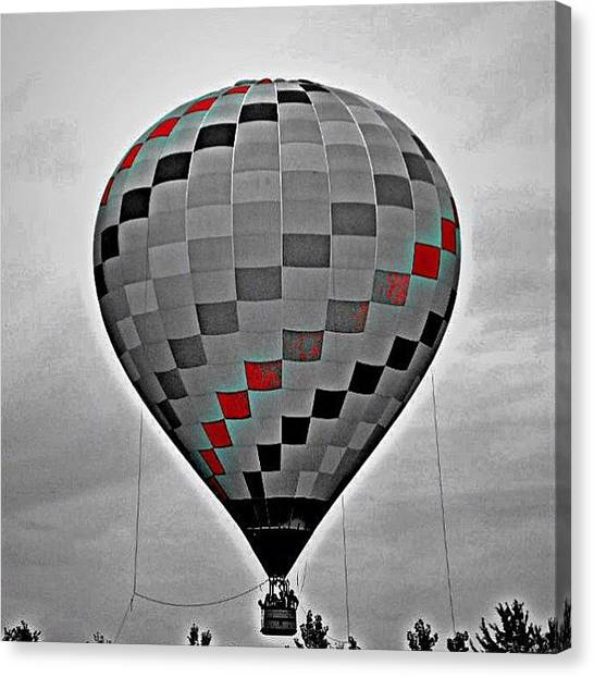Hot Air Balloons Canvas Print - To Accomplish Great Things We Must Not Only Act But Also Dream by Katie Phillips