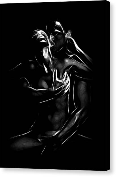 Naked Woman Canvas Print - To Be A Woman by Steve K