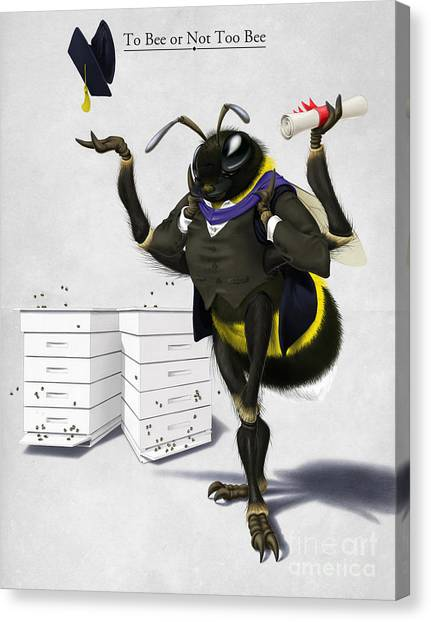 To Bee Or Not Too Bee Canvas Print