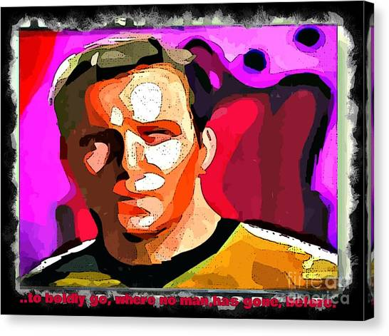 James T. Kirk Canvas Print - To Boldly Go by John Malone