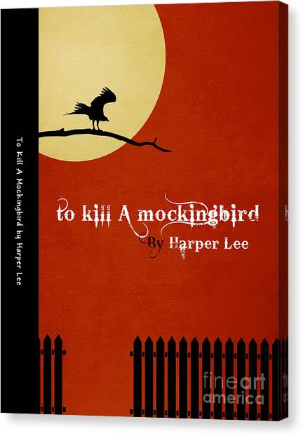Mockingbird Canvas Print - To Kill A Mockingbird Book Cover Movie Poster Art 1 by Nishanth Gopinathan