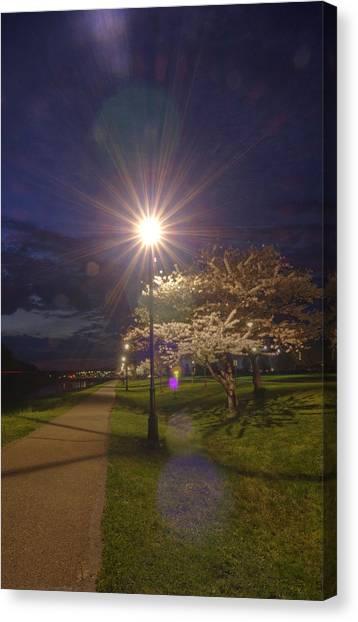 Ohio University Canvas Print - To Light The Way by Shirley Tinkham