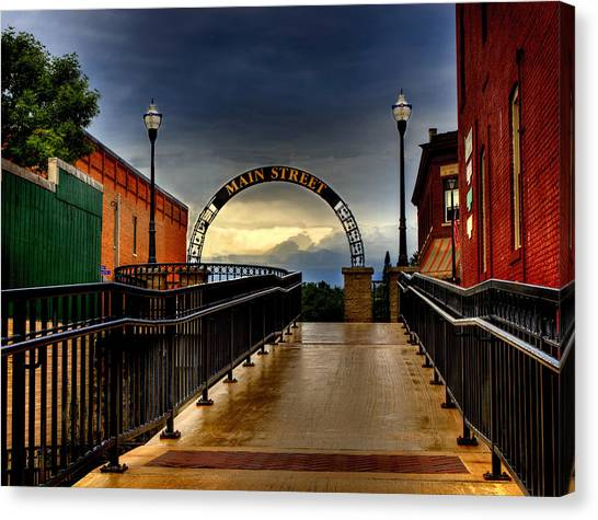 To Main Street Waupaca Canvas Print