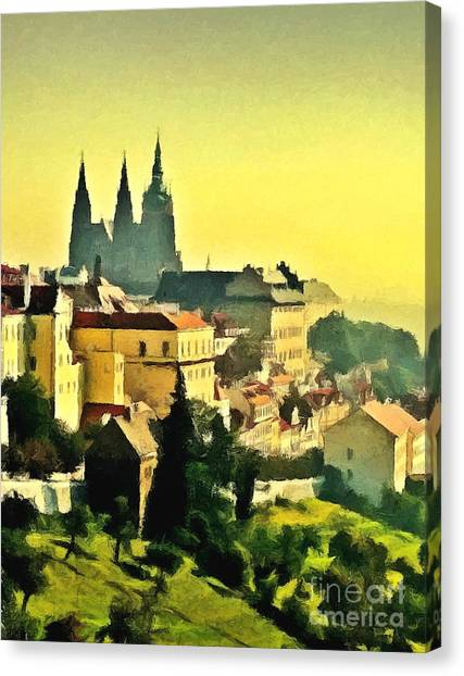 To Prague With Love... Canvas Print