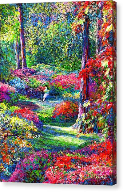 Japanese Gardens Canvas Print - To Read And Dream by Jane Small