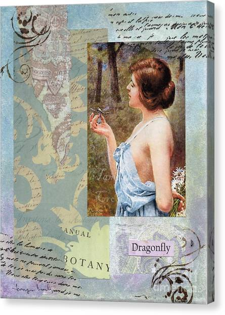 To Study The Dragonfly Canvas Print
