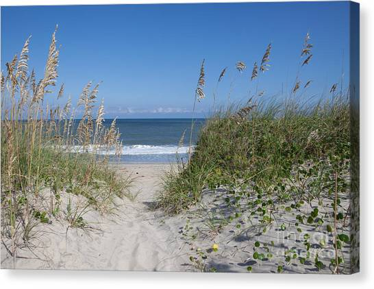 Outer Banks Canvas Print - To The Beach by Kay Pickens