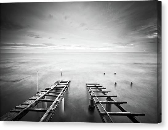 To The Infinity Canvas Print by Claudio Coppari