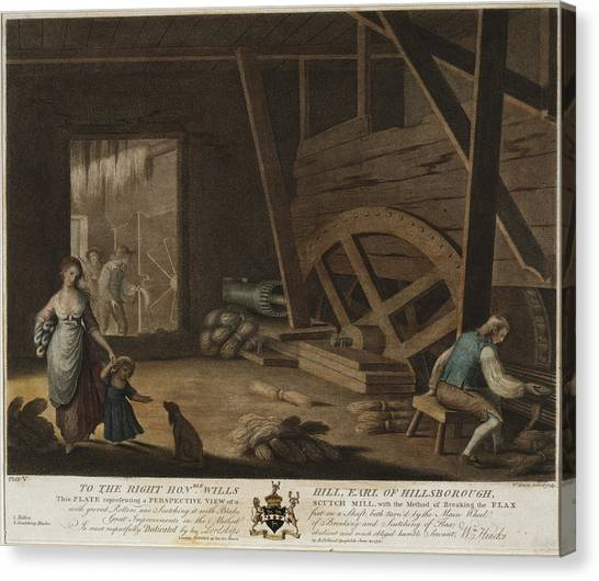 Rollerblading Canvas Print - To The Right Honable Wills Hill, Earl Of Hillsborough, This by Litz Collection