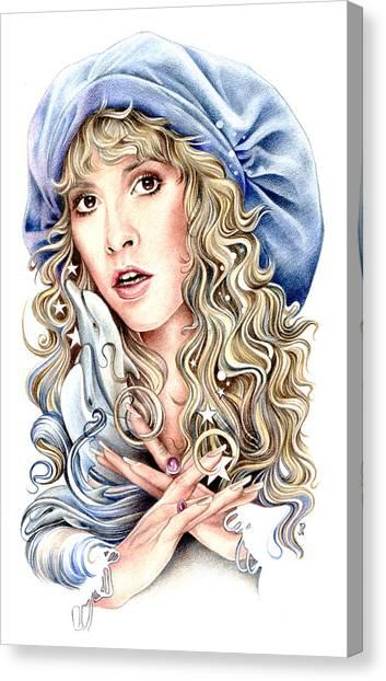 Stevie Nicks Canvas Print - To The Sea by Johanna Pieterman