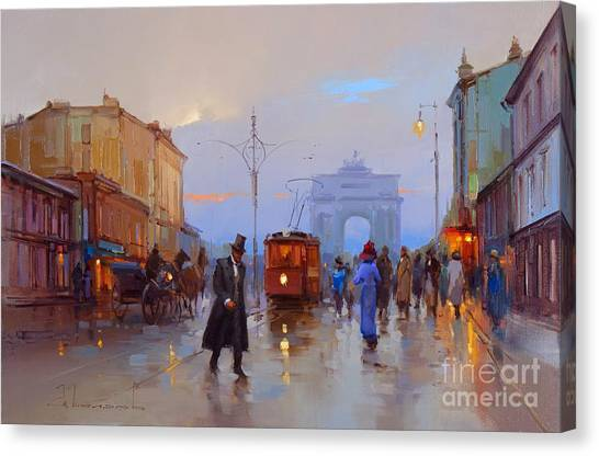Moscow Canvas Print - To The Tverskaya Outpost by Alexey Shalaev