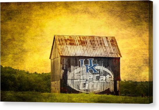 University Of Kentucky Canvas Print - Tobacco Barn In Kentucky by Paul Freidlund