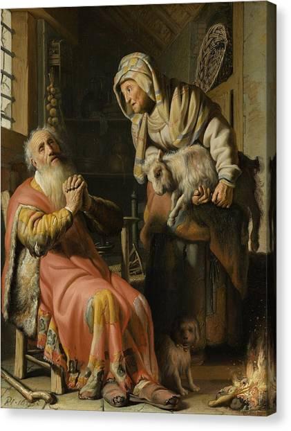 Rijksmuseum Canvas Print - Tobit And Anna With The Kid by Rembrandt van Rijn