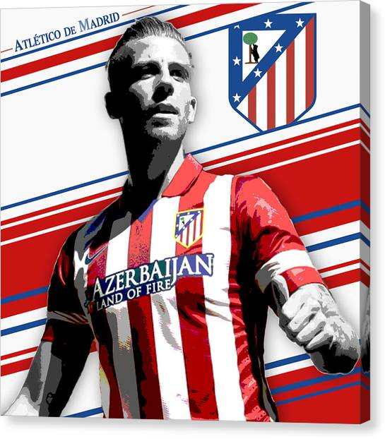 Atletico Madrid Canvas Print - Toby Alderweireld Athletico Madrid Print by Pro Prints