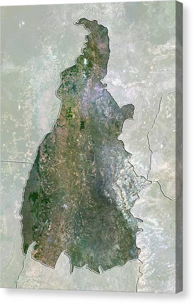 Tocantins, Brazil, Satellite Image Canvas Print by Science Photo Library