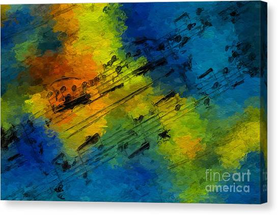 Toccata In Blue Canvas Print