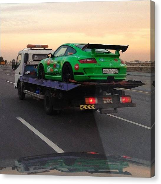 Porsche Canvas Print - Today #gulfrun #kuwait #porsche #gt3rs by Khaleel Alibrahim
