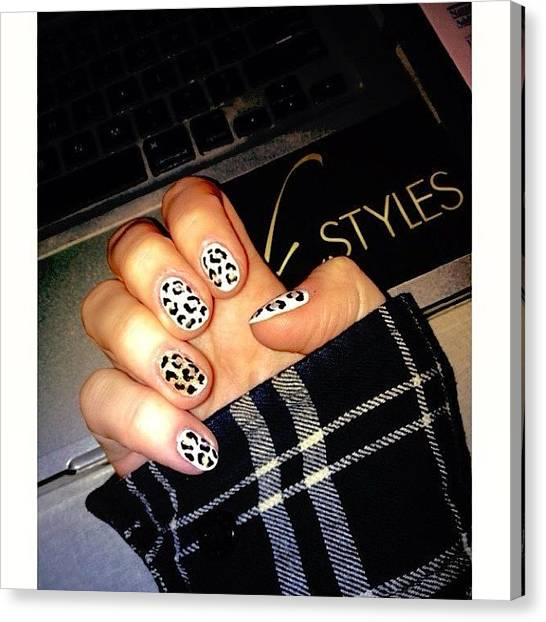 Flannel Canvas Print - Today. #nailart #leopard #nails by K Styles
