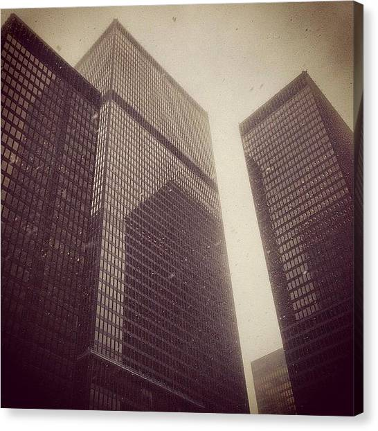 Toronto Skyline Canvas Print - Today We Remember #miesvanderrohe Aka by Wtd Magazine