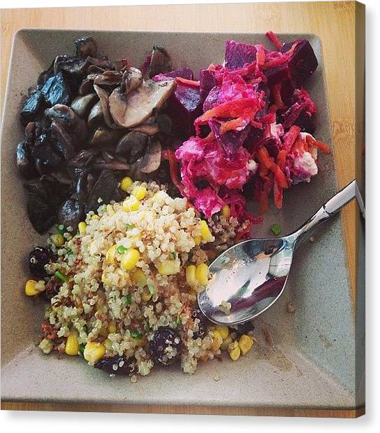 Vegetarian Canvas Print - Today's #lunch. Mixed Salads Featuring by Marcus Chan