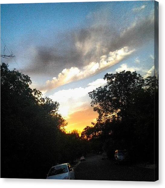 Witches Canvas Print - Today's Sunset #beautiful by Brandon Fisher