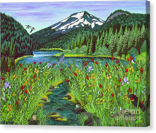 Todd Lake Mt. Bachelor Canvas Print