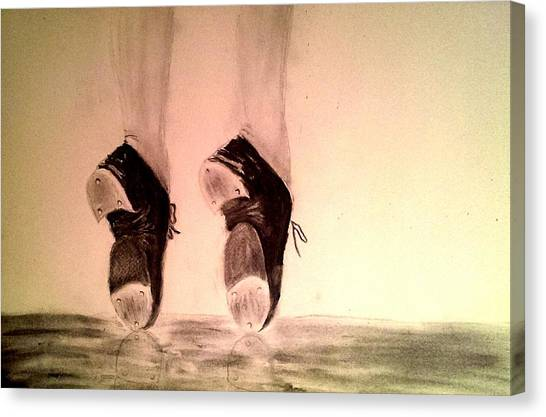 Tap Dance Canvas Print - Toe Stand by Matthew Venus