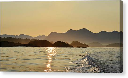 Tofino Morning On The Pacific Ocean Canvas Print by Jan Lyall Photography