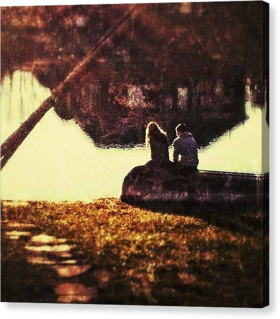 Ponds Canvas Print - Together by Marie Janssen