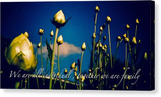 Together We Are Family Canvas Print