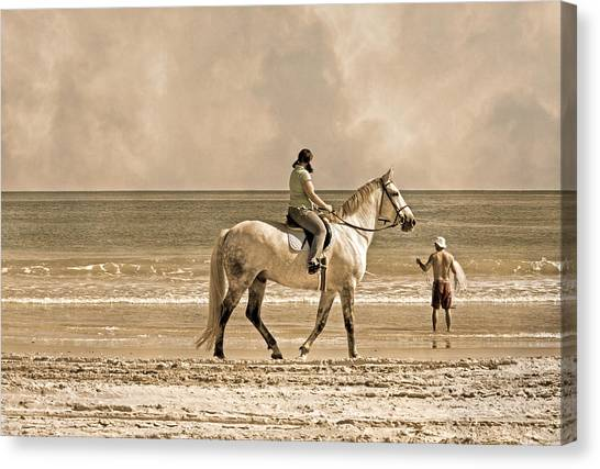 Draft Horses Canvas Print - Together We Go by Betsy Knapp