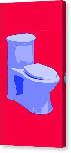 Toilette In Blue Canvas Print