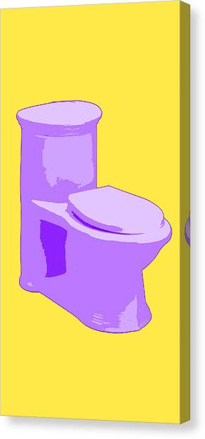 Toilette In Purple Canvas Print
