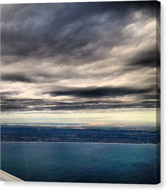 Jets Canvas Print - Tokyo Before Landing, Without Any by Rachit Hirani