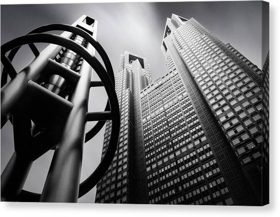 Skyscrapers Canvas Print - Tokyo Connection Mk.iv by Dr. Akira Takaue