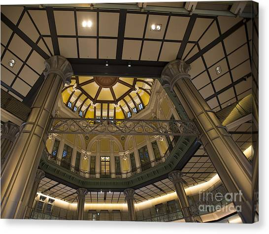 Bullet Trains Canvas Print - Tokyo Station Entrance Rotunda by David Bearden