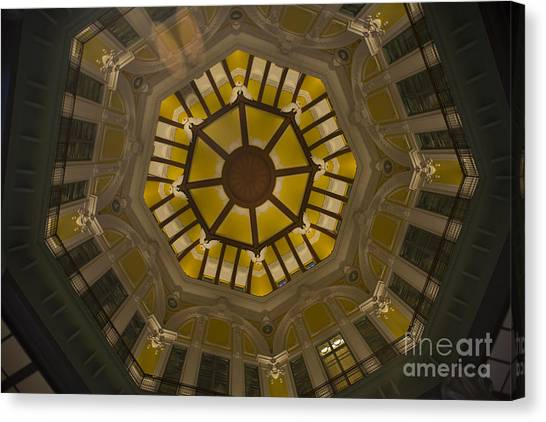 Bullet Trains Canvas Print - Tokyo Station Rotunda by David Bearden