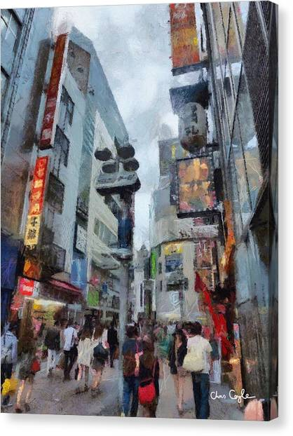 Tokyo Street Canvas Print by Chris Coyle