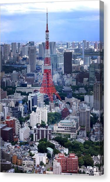 Tokyo Skyline Canvas Print - Tokyo Tower by Rachel  Arbaugh