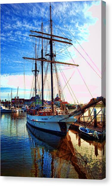 Canvas Print featuring the photograph Tole Mour Sailing Ship by William Havle