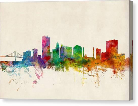 Ohio Canvas Print - Toledo Ohio Skyline by Michael Tompsett