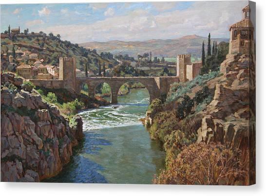 Toledo. San-martin Bridge Canvas Print by Korobkin Anatoly