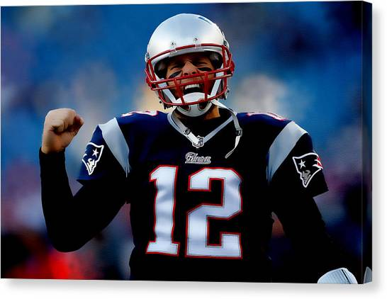 John Elway Canvas Print - Tom Brady Back To The Super Bowl by Brian Reaves