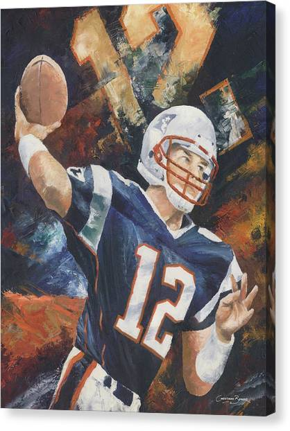 Tom Brady Canvas Print - Tom Brady by Christiaan Bekker